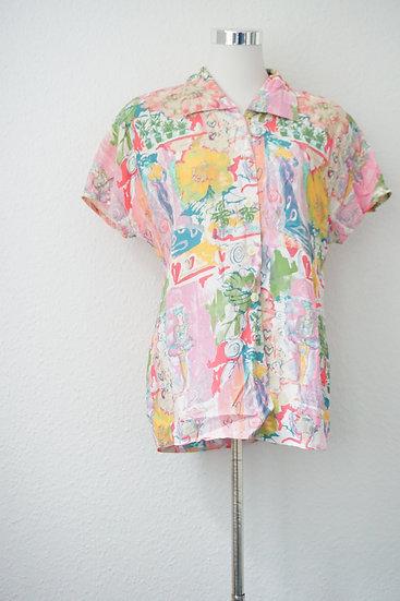 """""""Pastell Garden"""" - buntes Bluse"""