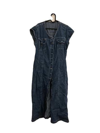 Jeans Kleid mit Gürtel