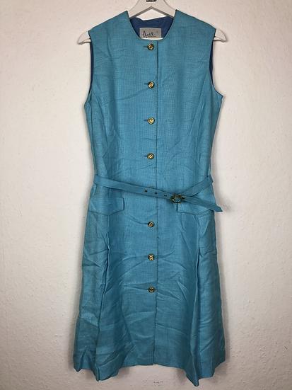 "Wunderschönes Türkises Vintage Kleid mit Goldknöpfe ""Axèl"
