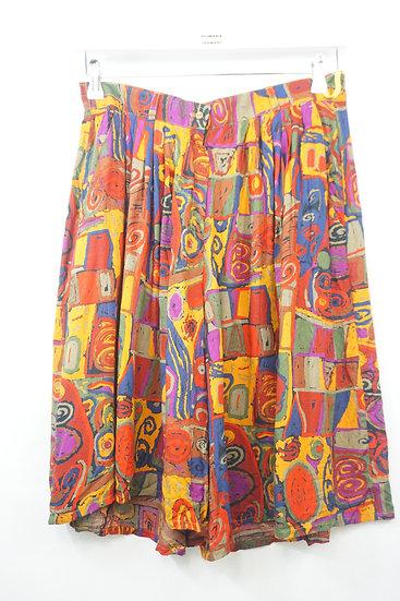 Hosenrock , Shorts mit Kunstdruck
