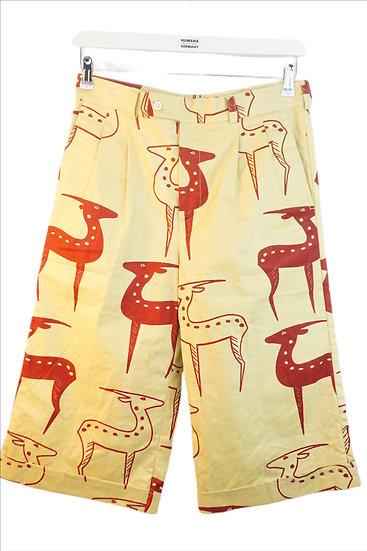 """""""Zart wie eine Gazelle!"""" - Beige Shorts mit Gazelle"""