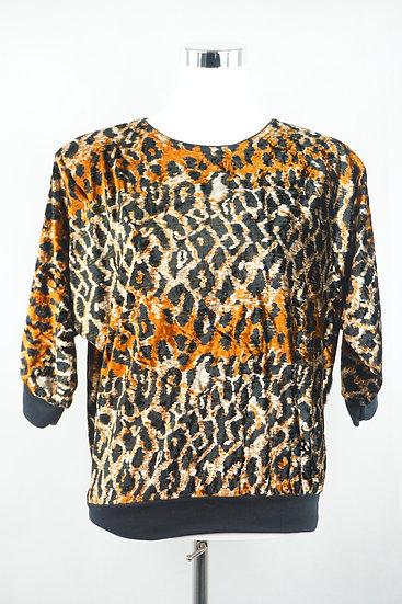 """""""Gefährlich!"""" Bluse mit Leoparden muster"""