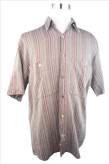 Dornbusch Hemd mit bunten Streifen und Permuttknöpfe