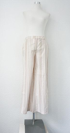 90's Hellbraune Hose mit Streifen