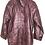 Thumbnail: Bordeauxfarbene Vintage Lederjacke