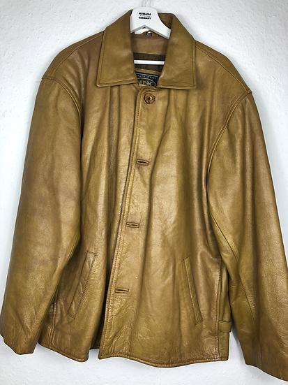 Goldenbraune Vintage Lederjacke, Herre