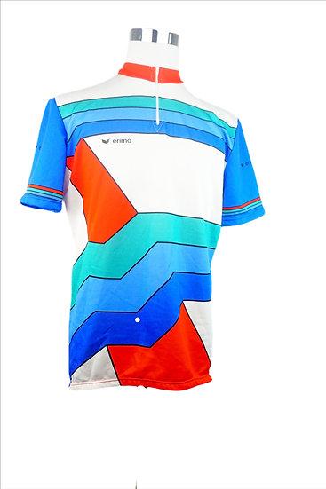 """""""Rennfahrer"""" - Sport T-Shirt mit bunten Streifen"""