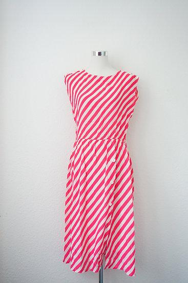 """""""Candy Cane"""" - Weißes Kleid mit roten Streifen"""