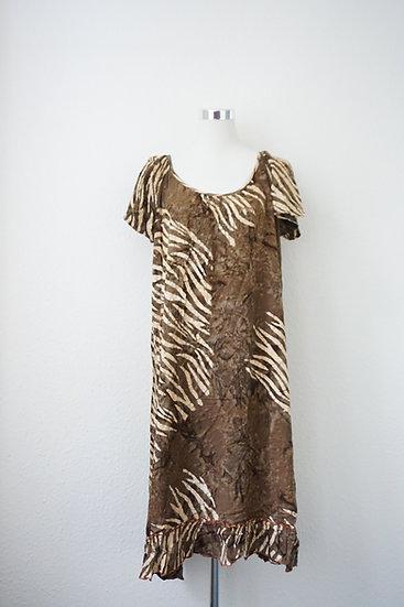 """""""Wild Energies"""" - Braunes Kleid mit Zebra Druck"""