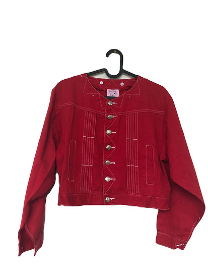 Rote Jeans Jacke