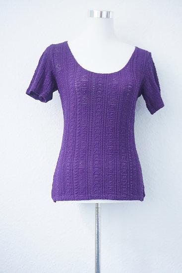 """Letzte Versuchung""- Lila-T-Shirt"
