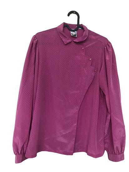 Dunkelrosa Vintage Bluse