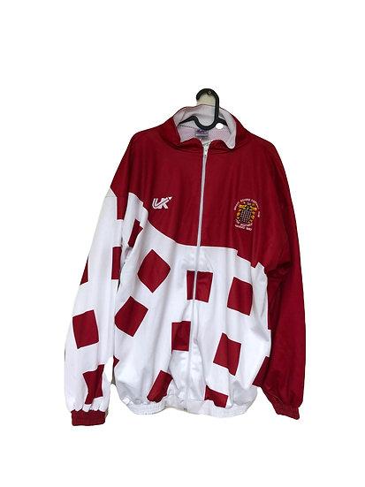 Rot/weiße Sportjacke