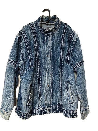 Denim Jacke mit abnehmbaren Reißverschlussärmeln