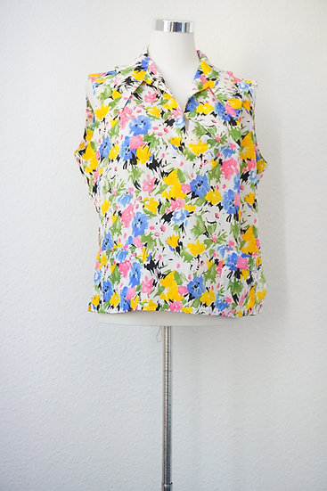 Süße Vintage Bluse mit Blumenmotiv