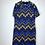 Thumbnail: 70'er Kleid braun/blau/beige/schwarz