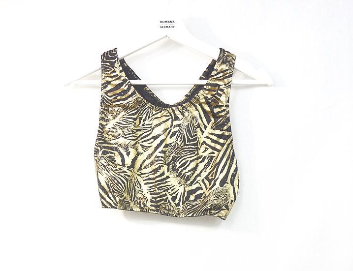 Top mit Zebra Druck