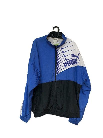Blau/schwarz/weiße Puma Sportjacke