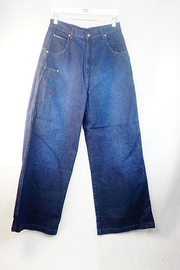Hip Hop Jeans dunkelblau  mit Graffiti-Print