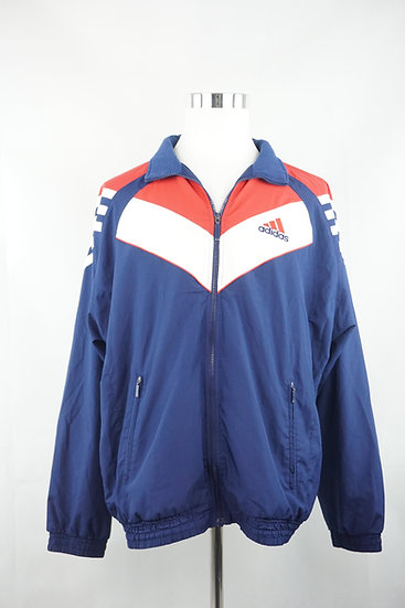 Adidas- blau/rote Vintage Sportjacke