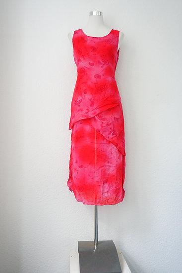 Rotes violettes Kleid