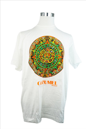 Weißes T-Shirt mit Aztek Motiv