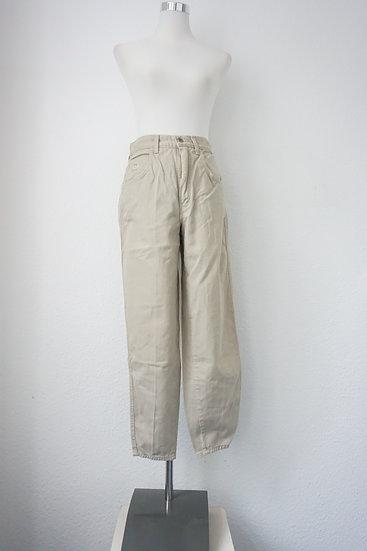High Waist Jeans Beige