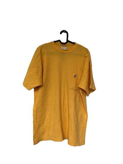 Gelbes Sport T-Shirt mit Waffelmuster