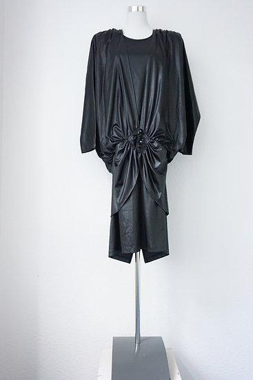"""""""Let´s Party!"""" - Schwarz glänzendes Kleid"""