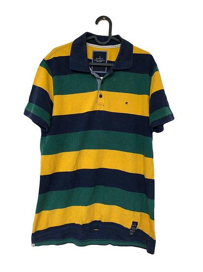 RED/GREEN gestreiftes Sport T-Shirt in grün/gelb/blau