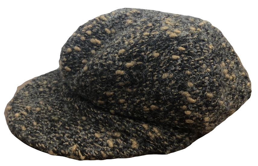 Wollmütze schwarz/beige