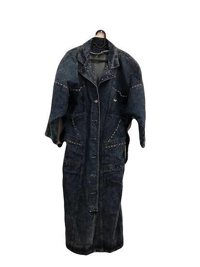 Lange Jeans Jacke mit Nieten