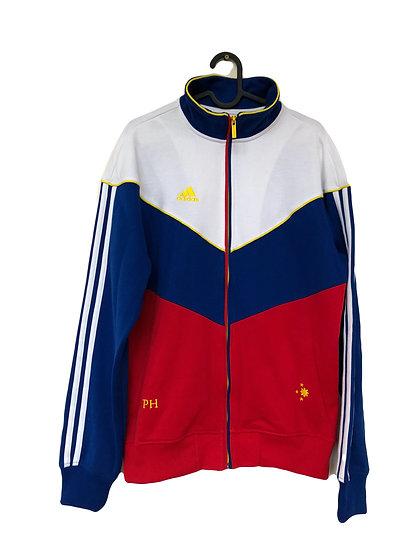 Rot/weiße Adidas  Sportjacke