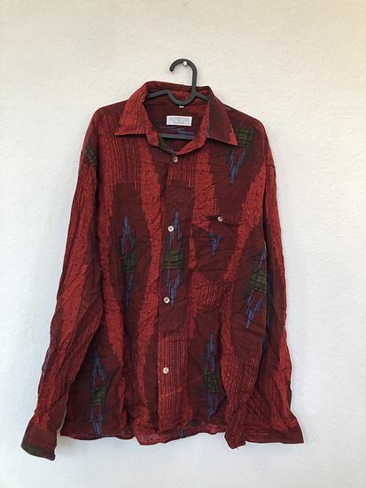 Seidensticker Vintage Hemd rot/blau/grün