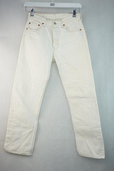 Weiße Levis Strauss Jeans 501