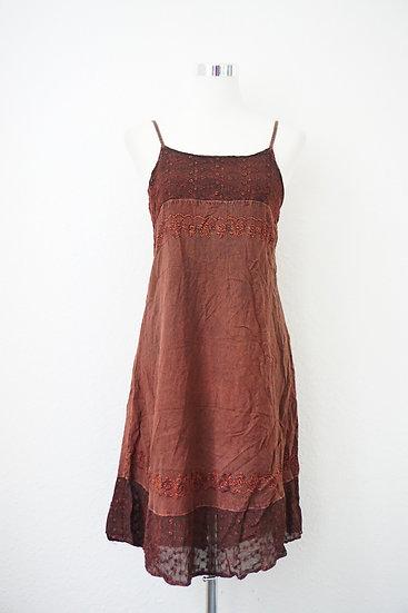 Hippie Braunes Kleid