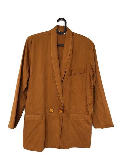 Goldbraune Jacke mit gelb / goldenen Knöpfen
