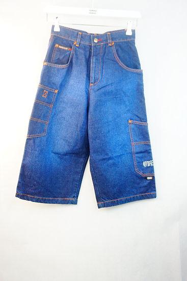 Hip Hop Streetstyle Jeans Shorts mit Graffiti-Print