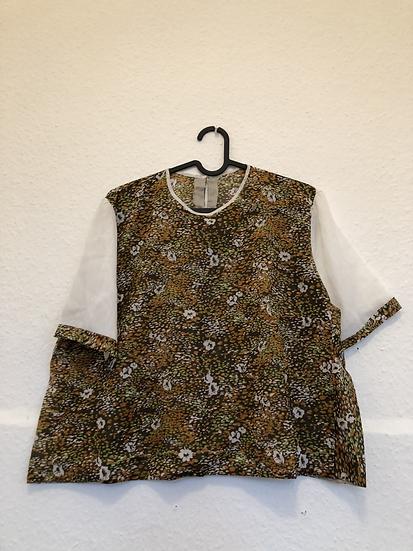 Vintage Bluse braun/grün/rost