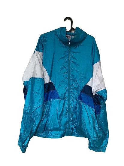 Weiß/blaue Sportjacke