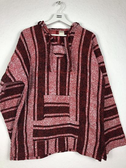Tradtionelle Jacke aus Mexiko. Rot/weiss/schwarz
