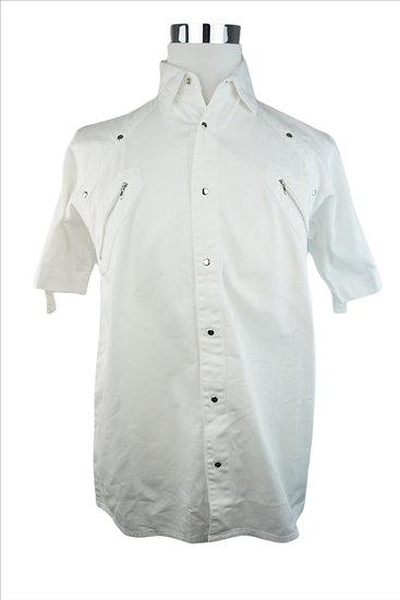 80´s Hemd weiss mit Schallen