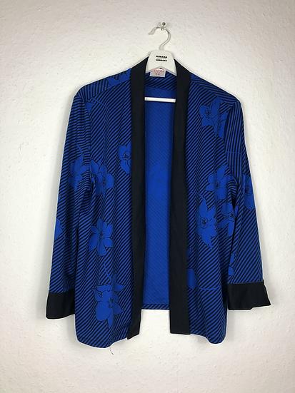 Vintage Jacke blau/schwarz