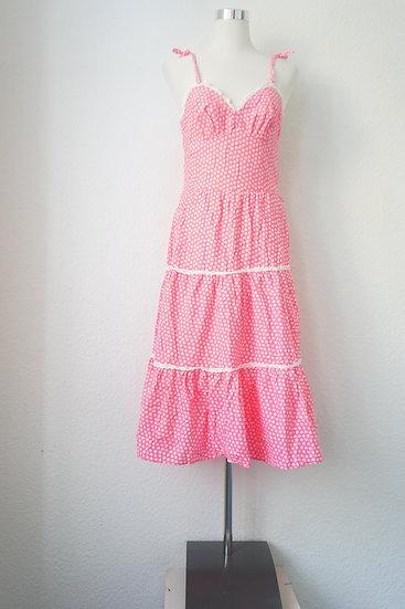 """""""Pink Fairy"""" - Rosa Kleid mit weißen Blumen"""
