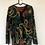 Thumbnail: Vintage Bluse mit Goldglitzer, schwarz/rot/gelb/grün