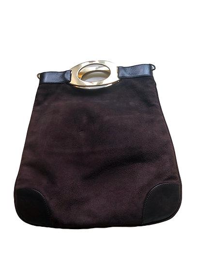 Braune Valentino Handtasche mit goldenen Tragegriff