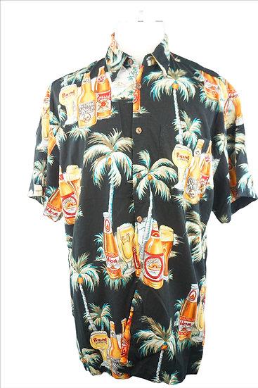 Hawaii Hemd mit Kokosnuss Knöpfe