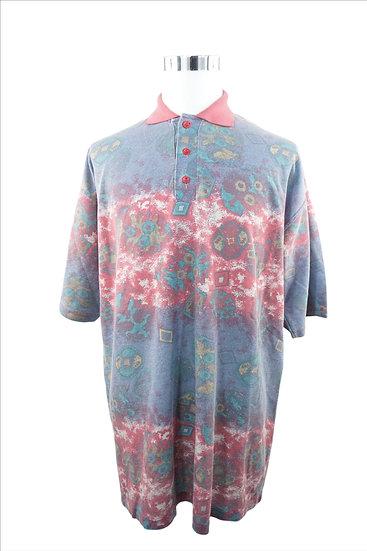 Poloshirt mit esoterischem Druck