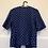 Thumbnail: Blaue Jacke mit weissen Punkten und Perlknöpfen