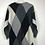 Thumbnail: Schwarz/grau/weisser Pulli mit Pailletten